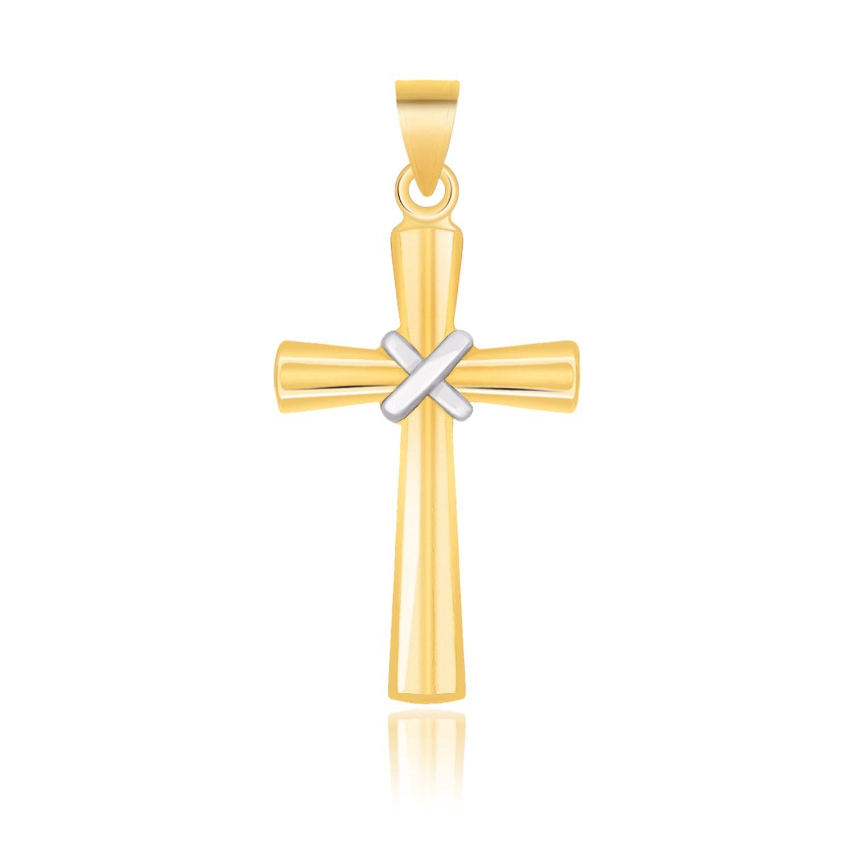 Beautiful Yellow gold 14K 14k Polished Cross Pendant