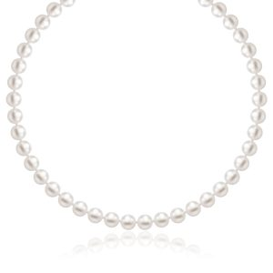 14K Yellow Gold Necklace with White Freshwater Cultured Pearls (6.0mm to 6.5mm)