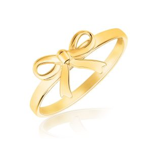 14K Yellow Gold Bow Ring