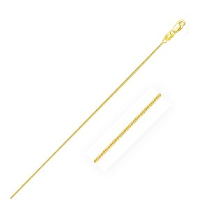 0.7mm 14K Yellow Gold Round Snake Chain