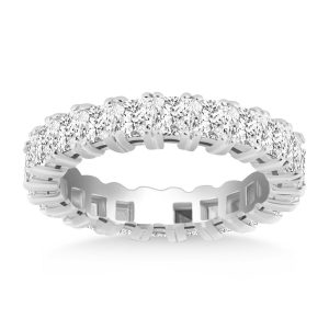 14K White Gold Princess Cut Diamond Eternity Ring