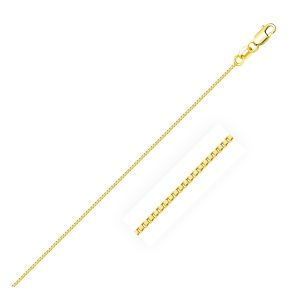 0.7mm 14K Yellow Gold Classic Box Chain