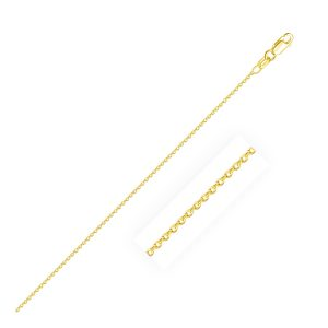 0.7mm 14K Yellow Gold Round Cable Link Chain