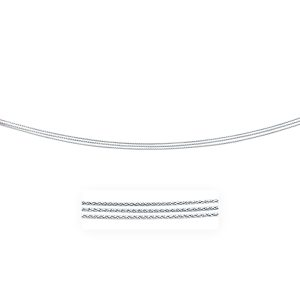 0.8mm 14K White Gold Three Strand Wheat Pendant Chain