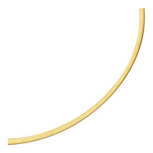 4.0mm 14K Two Tone Gold Reversible Omega Necklace