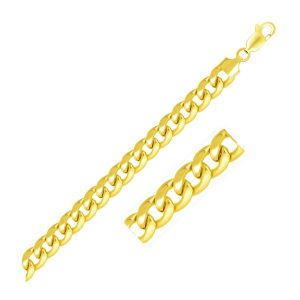 6.7mm 14K Yellow Gold Solid Miami Cuban Bracelet