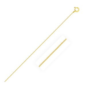 0.45mm 14K Yellow Gold Classic Box Chain