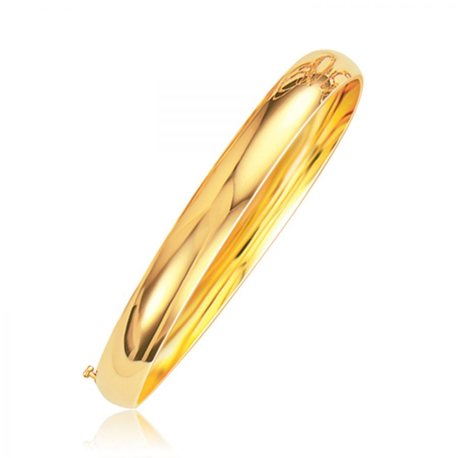 Classic Bangle in 14K Yellow Gold (8.0mm)