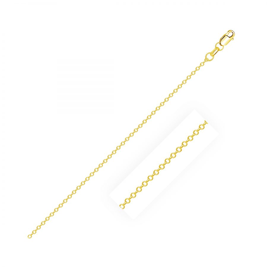 0.8mm 14K Yellow Gold Cable Link Chain