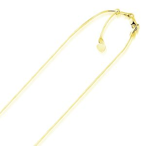0.85mm 14K Yellow Gold Adjustable Snake Chain