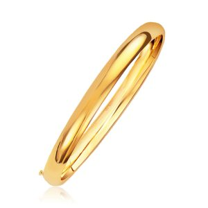 Classic Bangle in 14K Yellow Gold (6.0mm)