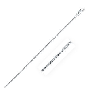 Rhodium Plated 1.8mm 925 Sterling Silver Popcorn Style Chain