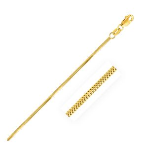 1.1mm 14K Yellow Gold Milano Chain