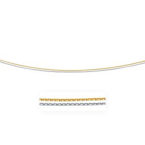 1.1mm 14K Two-Tone Double Strand Cable Pendant Chain